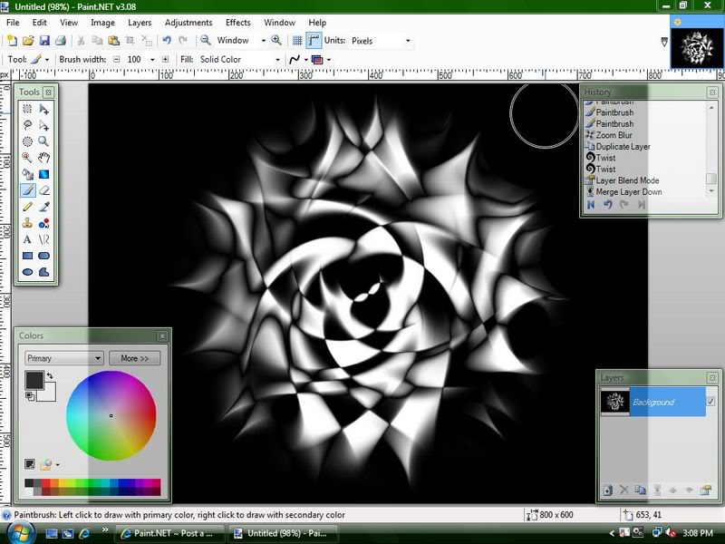 Уроки Paint.Net Rose7