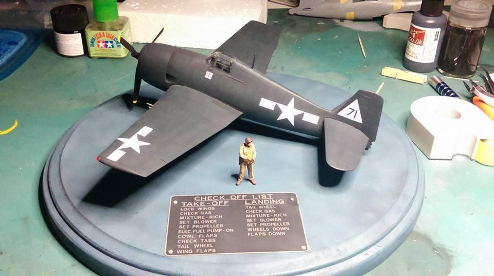 1/48 F6F-5 Hellcat VF-20 Lt. Leo Bob McCuddin CV-6 USS Enterprie vignette completed 10155591_10206080191136687_7751071985124027556_n_2
