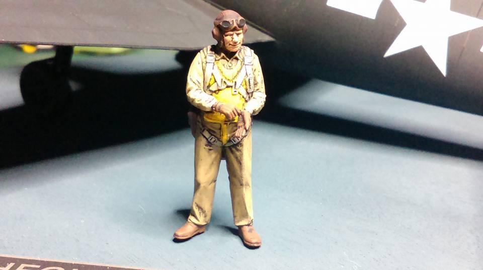 1/48 F6F-5 Hellcat VF-20 Lt. Leo Bob McCuddin CV-6 USS Enterprie vignette completed 10291354_10206080190736677_6545352880056243745_n