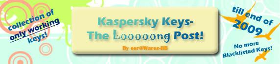 Kaspersky KAV/KIS Longest Key Collection - UPDATED Kas