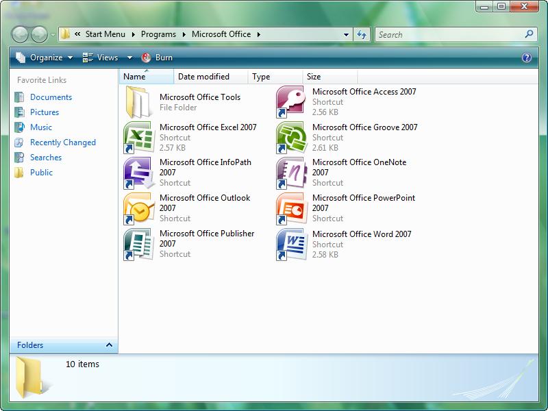 نسخة الا فيس Microsoft Office Enterprise 2007 التي افصلها على نسخة 2010 8-1