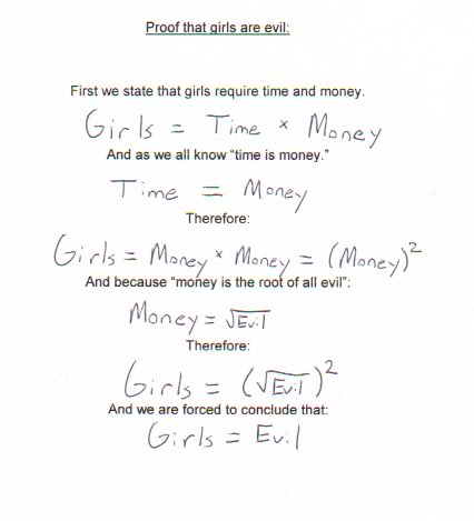 Math Sucks Proof-that-girls-are-evil