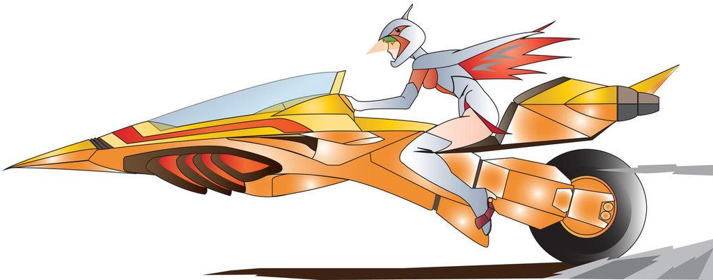 Mitsuki Nakamura Sketches (Gatchaman A.K.A. Battle of the Planets) Gatchaman_swan_jun_s_g_3_motobike_2_by_jinyol-d8lwxy4_zps0tlc9ly1
