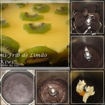 Semi-frio de Limão e Kiwi com cuajada Semifrio