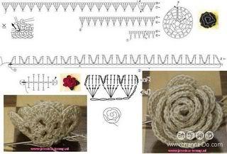 cách móc hoa hồng OM33B