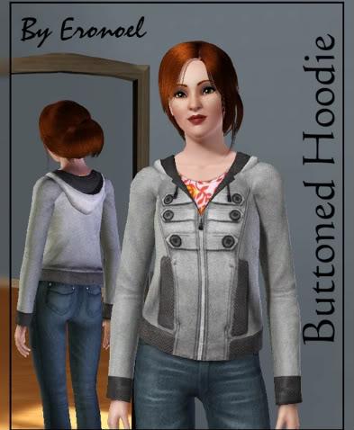 Buttoned Hoodie Hoodie1