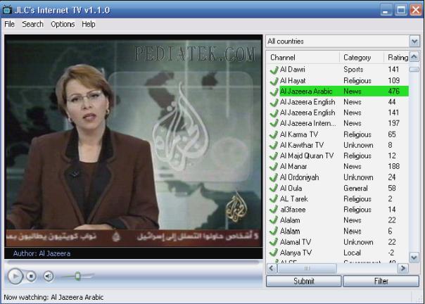 برنامج jlc tv لمشاهدة القنوات الفضائية سريع ومجاني ولا يحتاج لسيريال  Watch-jlc-internet-tv-v110