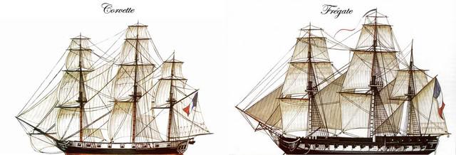 Combat de l'Ambuscade & la Bayonnaise – 21 frimaire An 7 Comparatifcorvette-frgate2-1