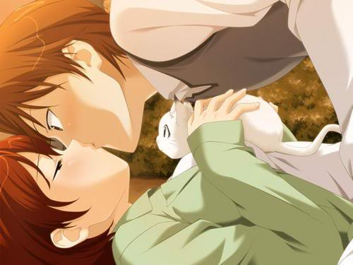 Besitos anime Kittyandcouple