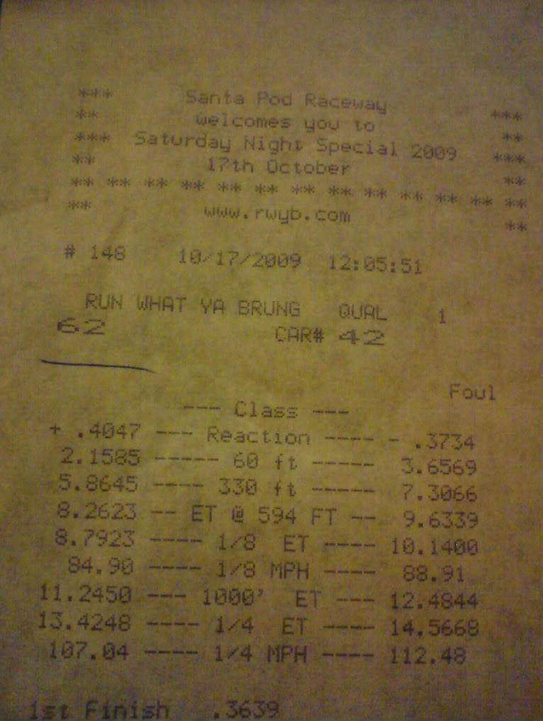 santa pod 1/4 mile time  DSC01631-1