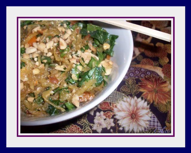 Salade thaïlandaise à la courge spaghetti. Courge3-1