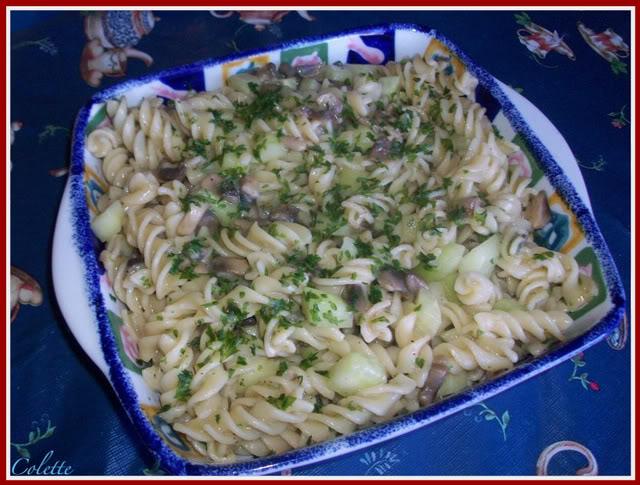 Macaroni aux concombres et aux champignons. Macaroni-1