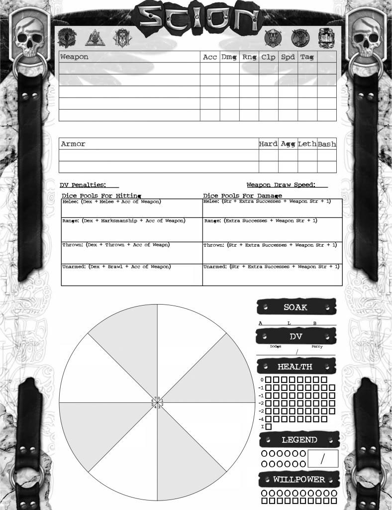 Character Sheet Battle ScionImprovedCombat