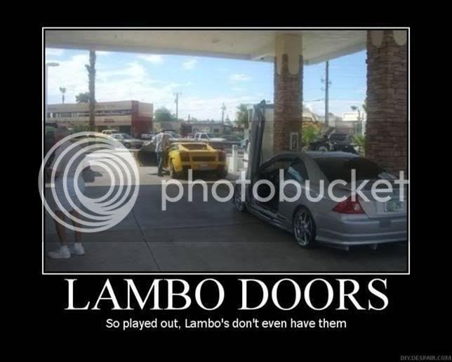Whats your opinion on lambo doors?  Lambo_Doors