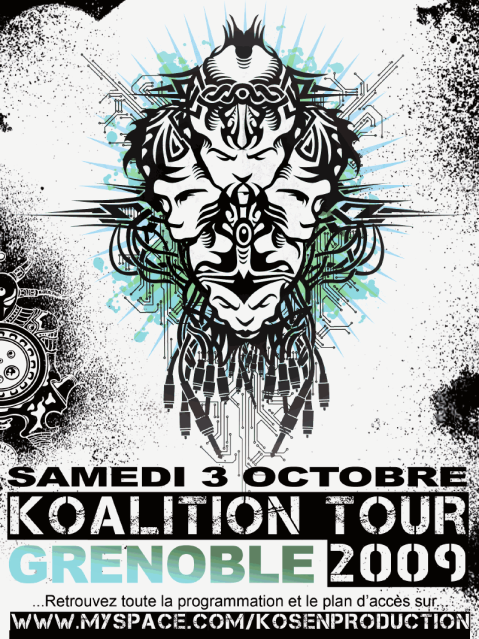 REPORTE ! REPORTE ! RADIUM / INFRABASS / NARKOTEK & MORE => KOALITION TOUR A GRENOBLE !!! Koalition