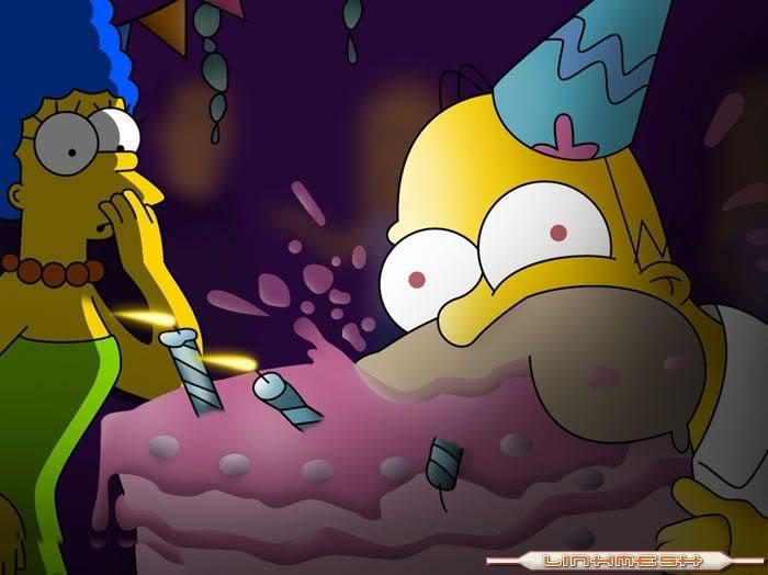 ¡¡¡¡FELIZ CUMPLE PAME!!!! Homero_pastel