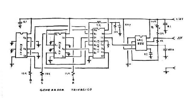 Variador de frecuencia de 1500 W. ESQUEMAPFDC