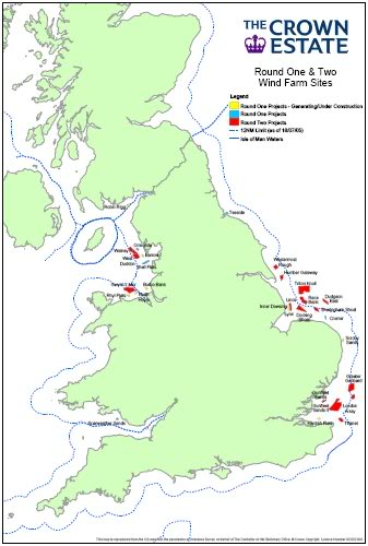 Offshore Windfarms in Welsh Waters Round1and2