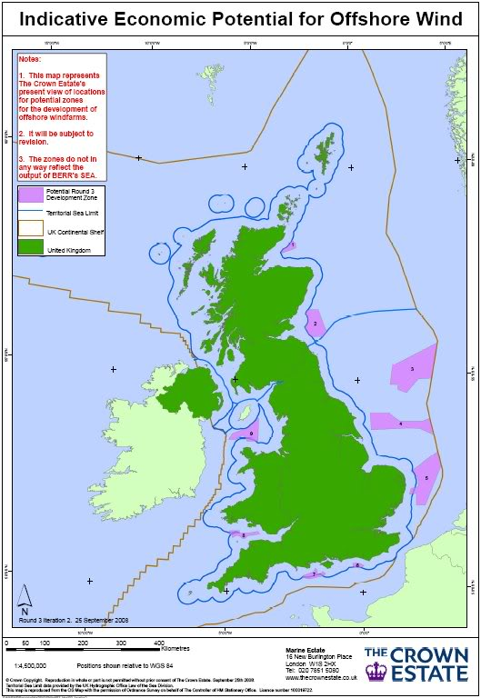Offshore Windfarms in Welsh Waters Round3