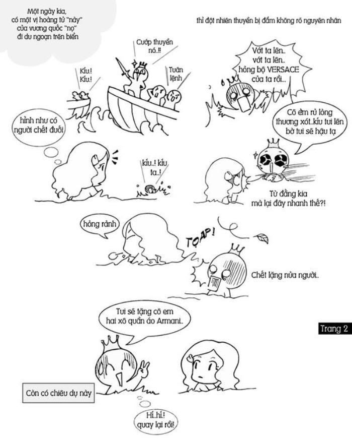 """Truyện tranh """"Nàng tiên cá"""". 002"""