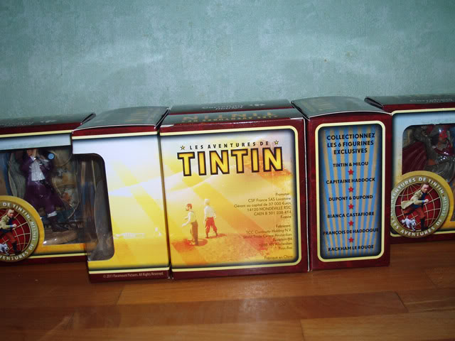 Collection figurines Tintin Carrefour PB224683