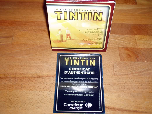 Collection figurines Tintin Carrefour PB224701