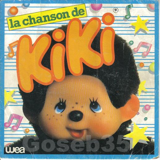 Peluches Kiki le vrai / Monchicchi Avant_45T_Kiki