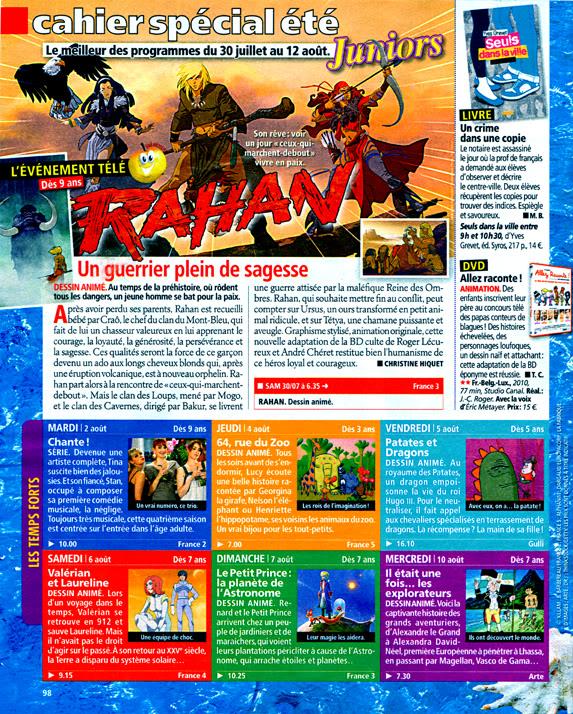 Les Magazines tv qui parlent de dessins animés Tele2semaines198_3007au12082011mini