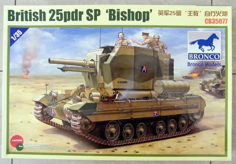 """British 25pdr SP """"Bishop"""" Bronco Ref 35077 Ech 1/35 DSCF0294"""