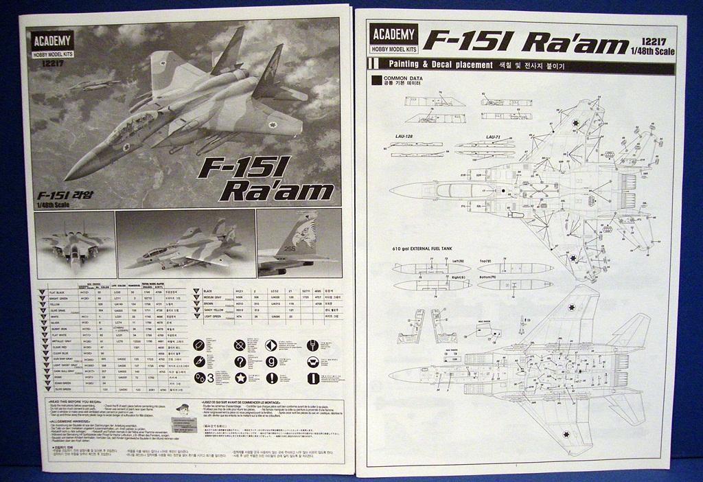 Montage - Frantz  F-15i ra'am Academy - Échelle 1/48  DSCF3137