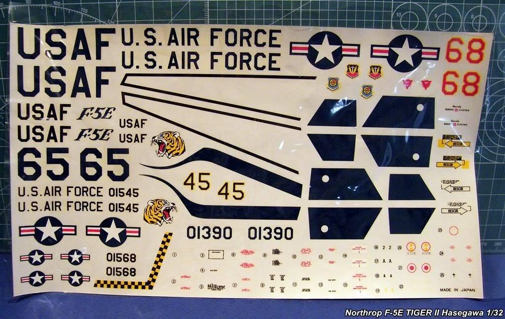 Montage F-5E Tiger II Hasegawa Échelle 1/32  NorthropF-5ETIGERIIHasegawa1-32-009