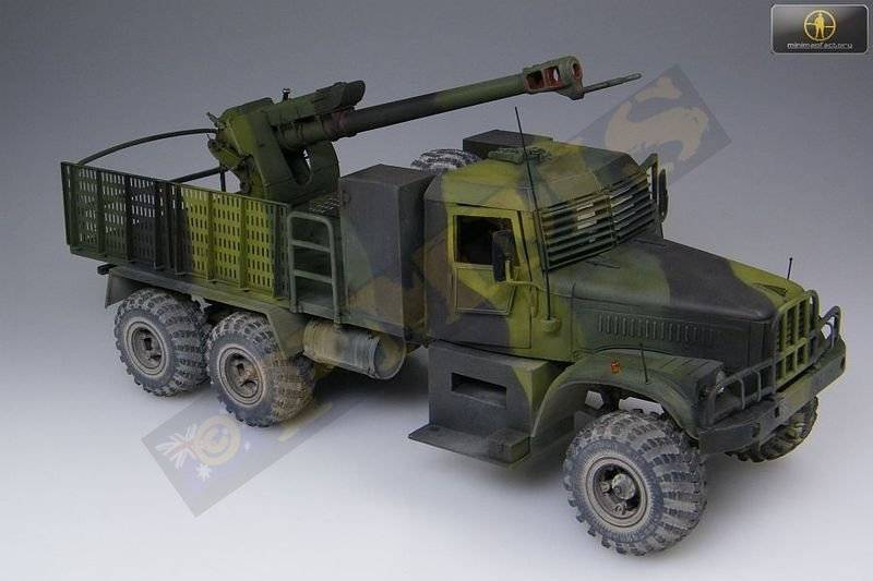 KRAZ-255B TMM-3 bridgelayer chez Miniman Factory  35021