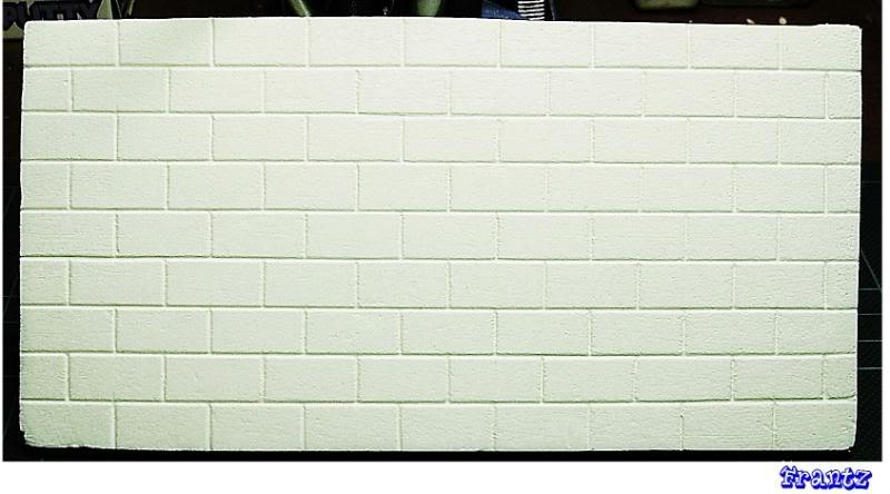 Fabriquer un Mur en Parpaing en Carton Plume P01
