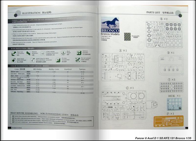 Panzer II Ausf.D 1 (SD.KFZ.121) Bronco Ref CB 35061 Ech 1/35 PanzerIIAusfD1SDKFZ121Bronco004