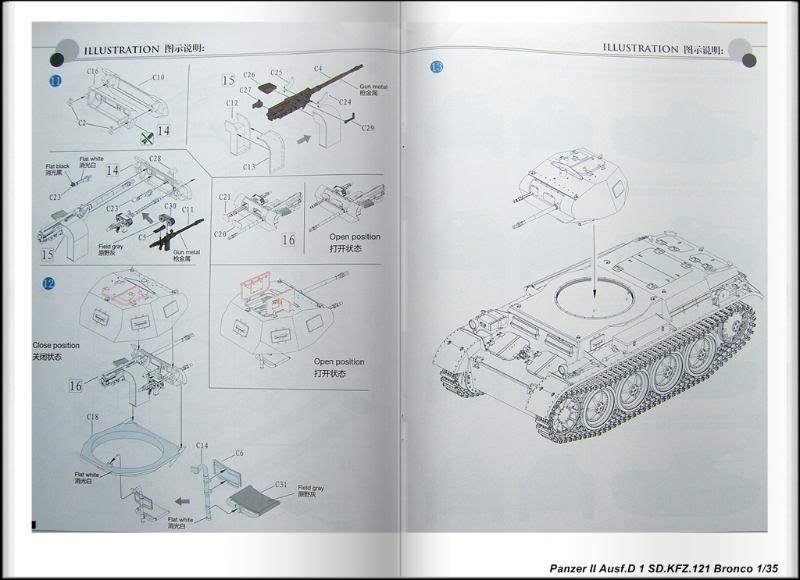 Panzer II Ausf.D 1 (SD.KFZ.121) Bronco Ref CB 35061 Ech 1/35 PanzerIIAusfD1SDKFZ121Bronco009