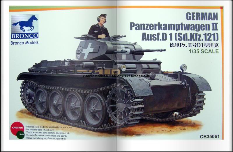 Panzer II Ausf.D 1 (SD.KFZ.121) Bronco Ref CB 35061 Ech 1/35 PanzerIIAusfD1SDKFZ121Bronco026