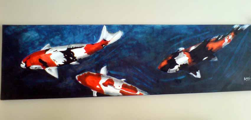 Paintings of your koi - oil on canvass KoiPainting2