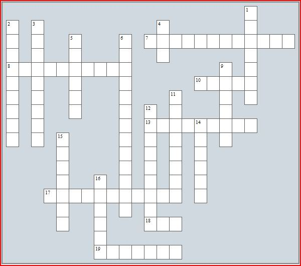 Crossword puzzle No 4 - Diseases and parasites Cw-health-1