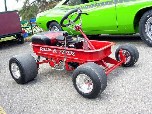 Mini 2-stroke go-cart build Wagon