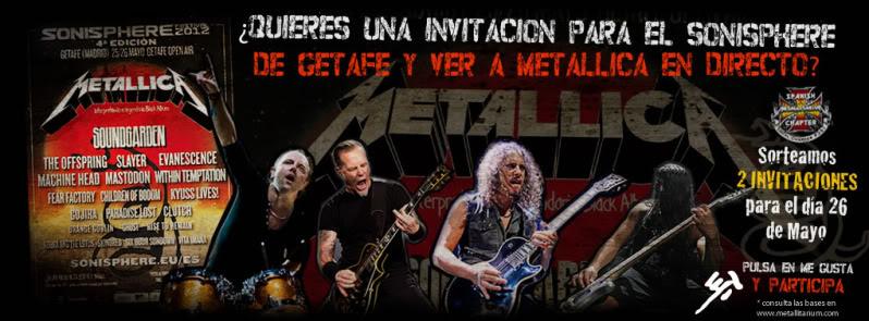 Sorteo 2 entradas para Metallica en el Sonisphere Sorteo-entradas
