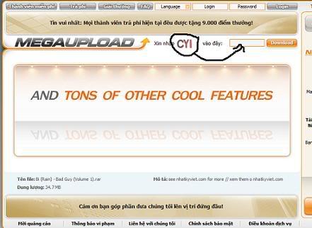 Megaupload Tutorials (Hướng dẫn download bằng Megaupload) 393e2ba2