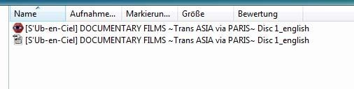 DOCUMENTARY FILMS ~Trans ASIA via PARIS~ Disk 1 Samename