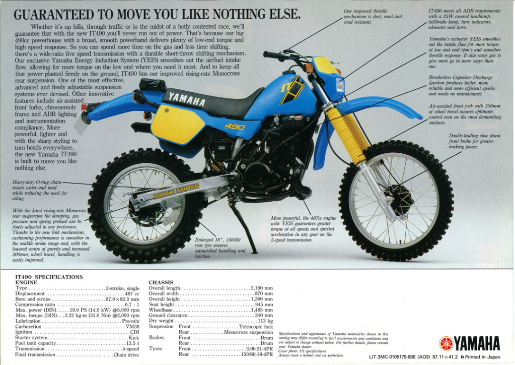 Gamle motorsykkelbrosjyrer IT-490-1983-2-W1080