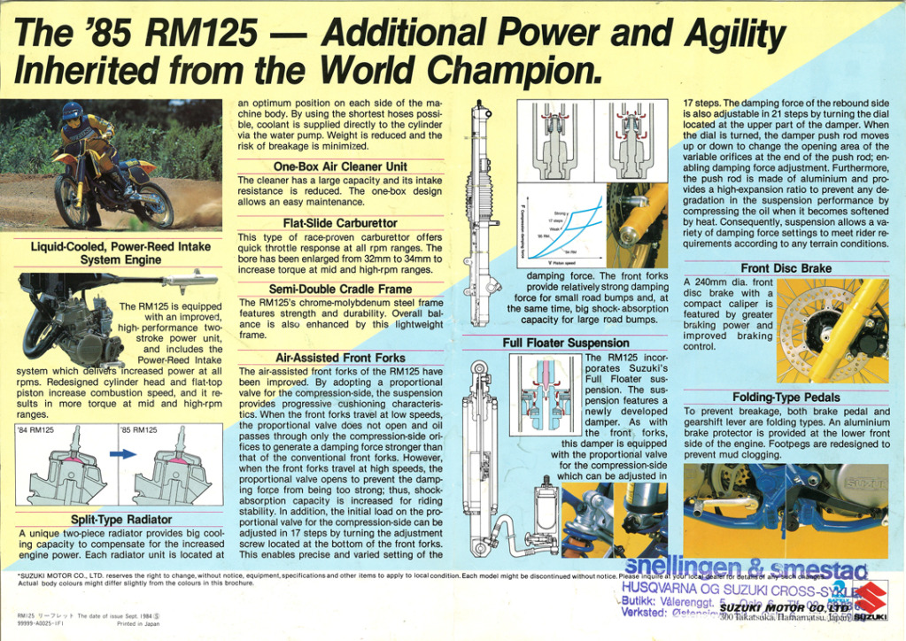 Gamle motorsykkelbrosjyrer Suzuki-RM-125-1985-2