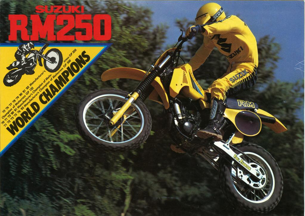 Gamle motorsykkelbrosjyrer Suzuki-RM-250-1983---1-W108