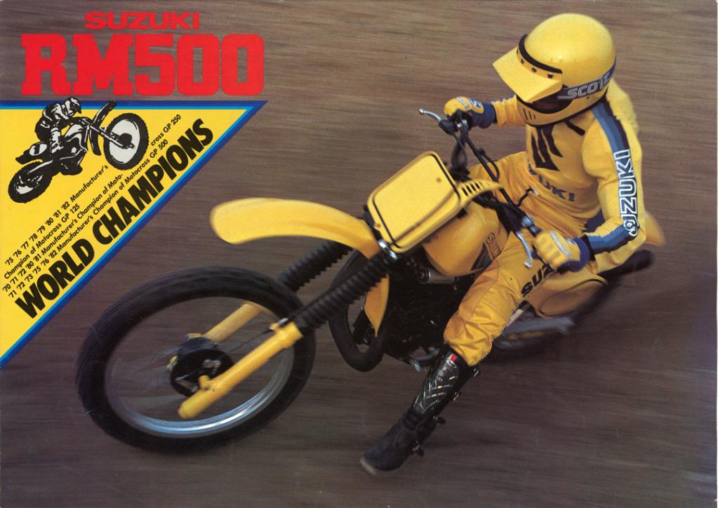Gamle motorsykkelbrosjyrer Suzuki-RM-500-1983-1-W1080