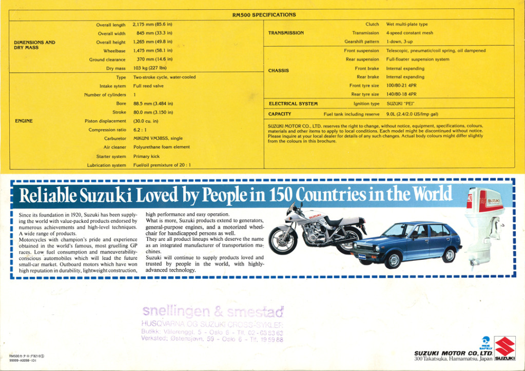 Gamle motorsykkelbrosjyrer Suzuki-RM-500-1983-4-W1080