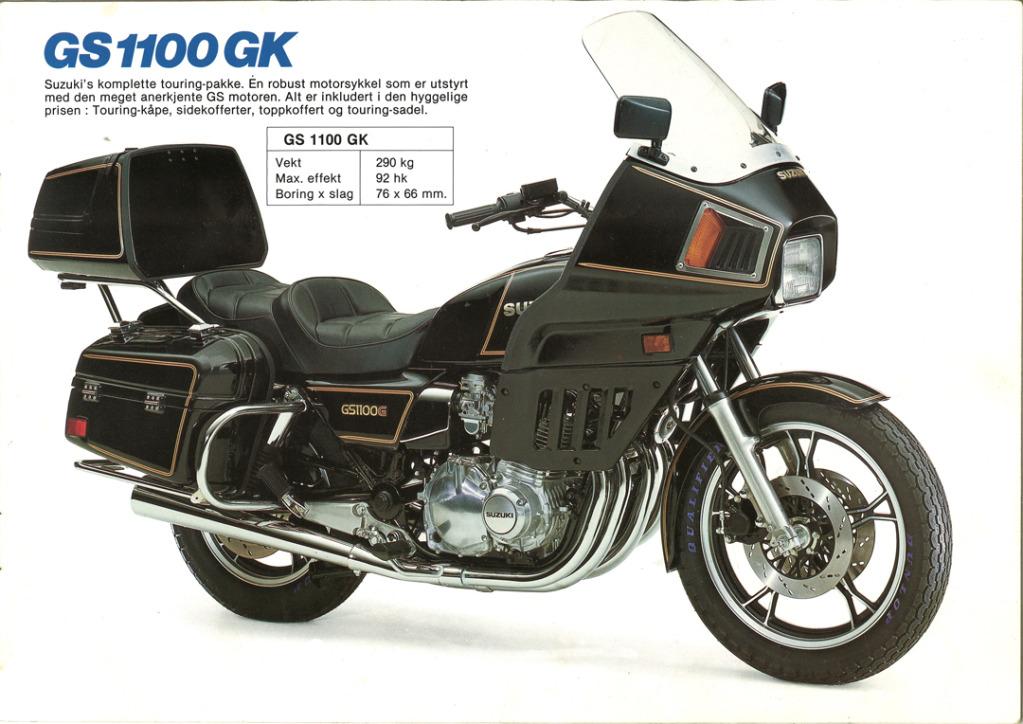 Gamle motorsykkelbrosjyrer SuzukimodelsNorway19835