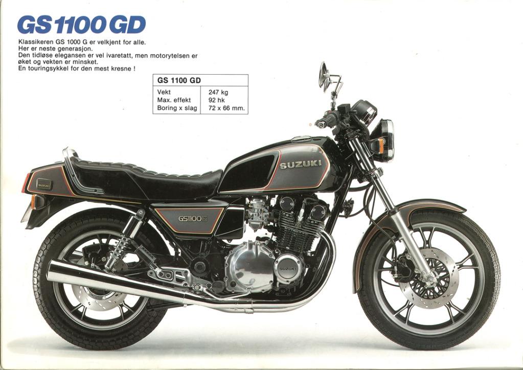 Gamle motorsykkelbrosjyrer SuzukimodelsNorway19836