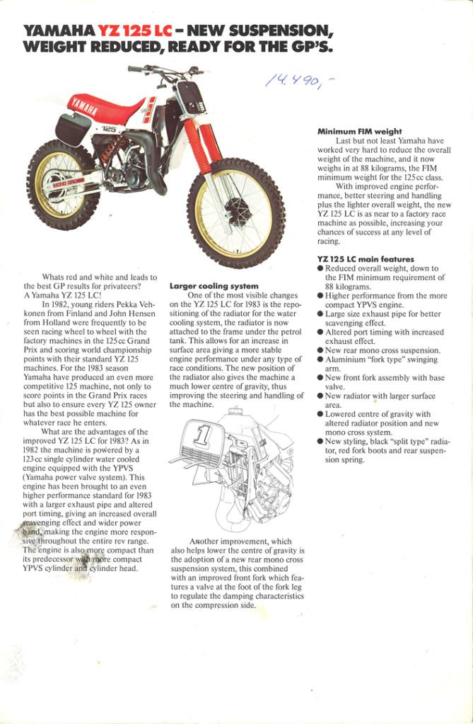 Gamle motorsykkelbrosjyrer YZ-range-1983-4-h1080